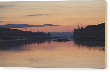 Wood Print featuring the photograph Sunrise In Blue Hill IIi by Greg DeBeck