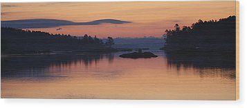 Wood Print featuring the photograph Sunrise In Blue Hill Iv by Greg DeBeck