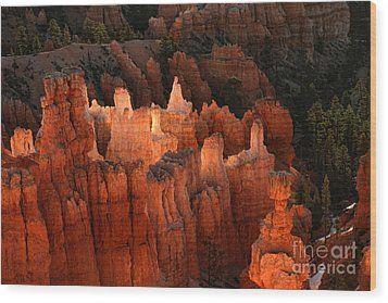 Sunrise In Bryce 6 Wood Print by Edward R Wisell