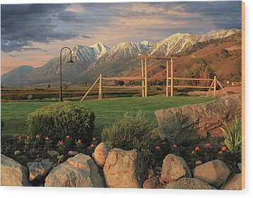 Sunrise In Carson Valley Wood Print by James Eddy