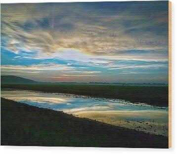 Sunrise In Doniphan Kansas Wood Print by Dustin Soph