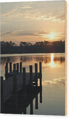 Sunrise In Grayton Beach II Wood Print by Robert Meanor