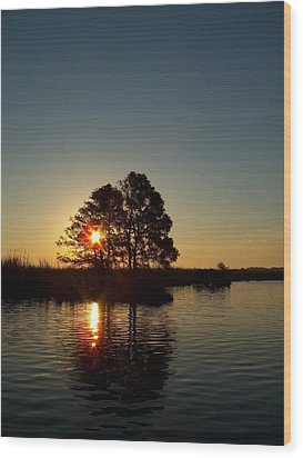 Sunrise In Moyock Nc Wood Print