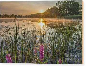 Sunrise Kent Lake Wood Print