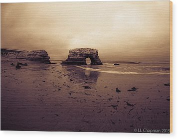 Sunrise Wood Print by Lora Lee Chapman