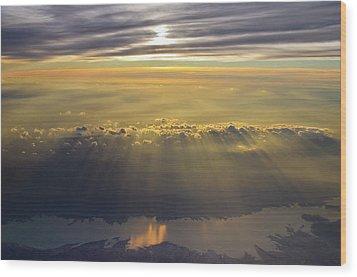 Sunrise From 30,000 Feet Wood Print