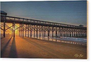 Wood Print featuring the photograph Sunrise On Folly Island by Rikk Flohr