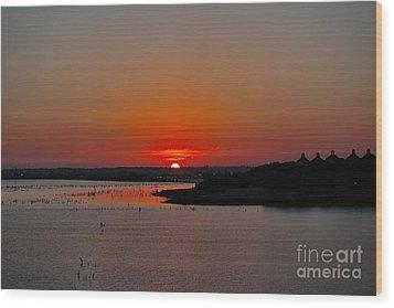 Sunrise On Lake Ray Hubbard Wood Print