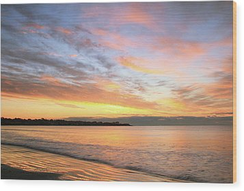 Wood Print featuring the photograph Sunrise On Middletown Rhode Island by Roupen  Baker