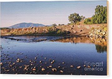 Sunrise On Nariel Creek Wood Print