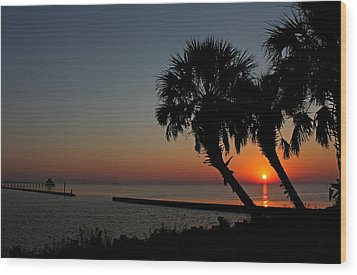 Wood Print featuring the photograph Sunrise On Pleasure Island by Judy Vincent
