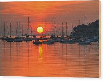 Sunrise On Salem Harbor Salem Ma Wood Print