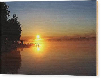 Wood Print featuring the photograph Sunrise On The Lake 2 by Bruce Bley