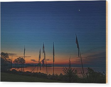 Sunrise On The Neuse 1 Wood Print