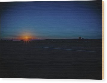 Sunrise On The Reservation Wood Print