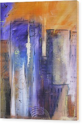 Sunrise On Twin Towers Wood Print by Gary Smith