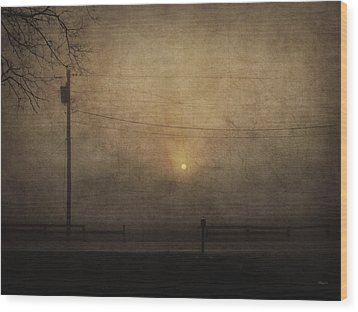 Sunrise On Wilmington Pike Wood Print by Cynthia Lassiter