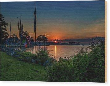 Sunrise On The Neuse 3 Wood Print