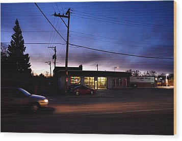 Wood Print featuring the photograph Sunrise Over Charlie's by Jeanette O'Toole