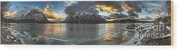 Sunrise Over Deep Emerald Ice Wood Print by Royce Howland
