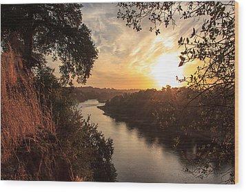 Sunrise Over Fair Oaks Wood Print by Randy Wehner Photography