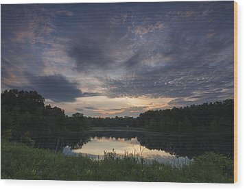 Sunrise Over Indigo Lake Wood Print