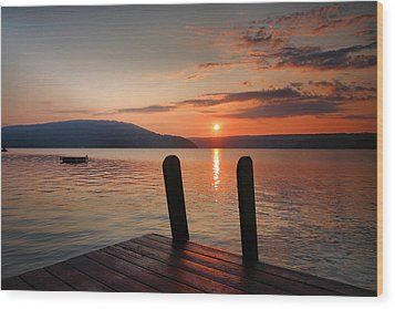 Sunrise Over Keuka IIi Wood Print