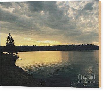 Sunrise Over Lake Washington Wood Print
