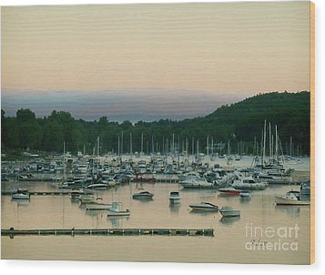 Sunrise Over Mallets Bay Variations - Three Wood Print