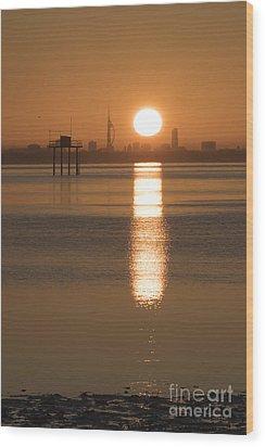 Sunrise Over Portsmouth Wood Print