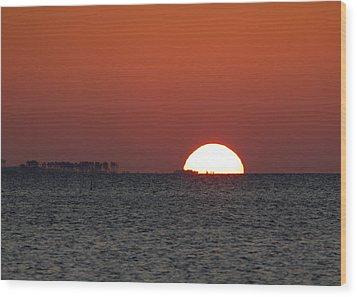 Sunrise Over The Bay 5x7 Wood Print