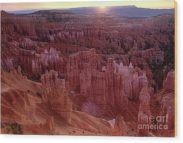 Sunrise Over The Hoodoos Bryce Canyon National Park Wood Print