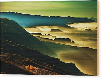Sunrise Over The Pacific Wood Print