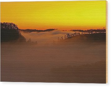 Sunrise Over The Red River Gorge. Wood Print
