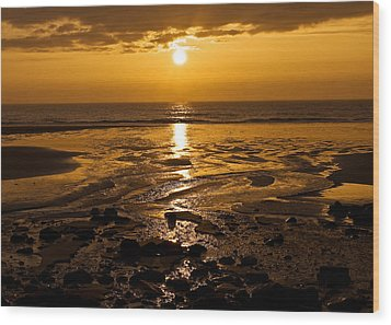 Sunrise Over The Sea Wood Print by Svetlana Sewell
