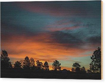 Sunrise Over The Southern San Juans Wood Print