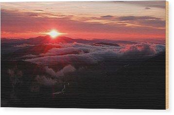 Sunrise Over Wyvis Wood Print