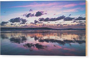 Sunrise Pink Wisps Delray Beach Florida Wood Print