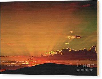 Sunrise Prescott Arizona Wood Print by Gus McCrea
