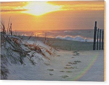 Sunrise Rainbow Wood Print by Vicki Jauron