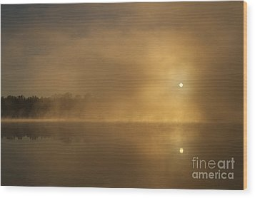 Sunrise Relections Wood Print
