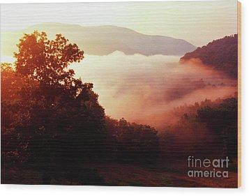 Sunrise Rich Mountain Wood Print by Thomas R Fletcher