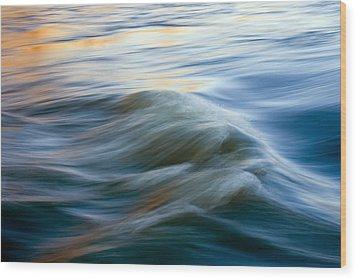 Sunrise Ripple Wood Print by Mike  Dawson