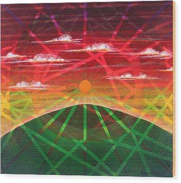 Sunrise Wood Print by Rollin Kocsis