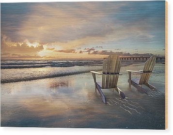 Wood Print featuring the photograph Sunrise Romance by Debra and Dave Vanderlaan
