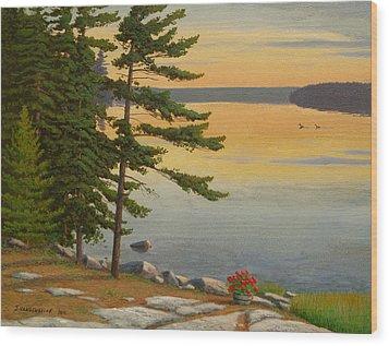 Sunrise Shore Wood Print