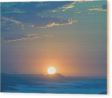 Wood Print featuring the photograph Sunrise Sky by  Newwwman