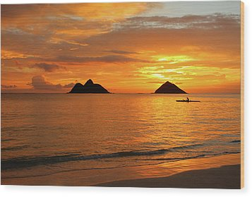 Sunrise Solo Wood Print by Brian Governale