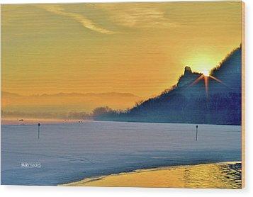 Sunrise Sparkle Wood Print