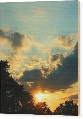 Sunrise Sunset Wood Print